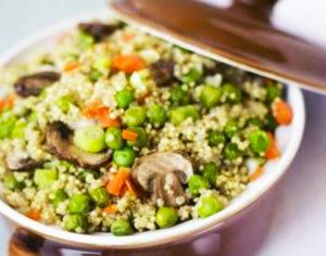 fungocesena_ricetta_Quinoa-ai-funghi-e-piselli