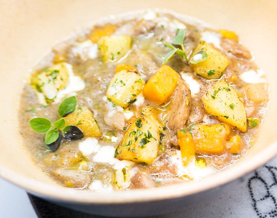 Zuppa di porcini e zucca con patate (Bruno Barbieri)